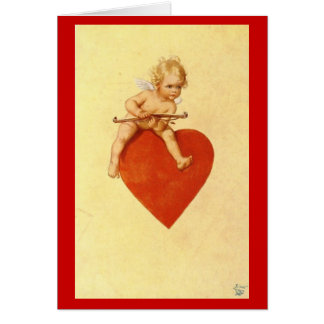 Cupid on a Heart Valentine - Card