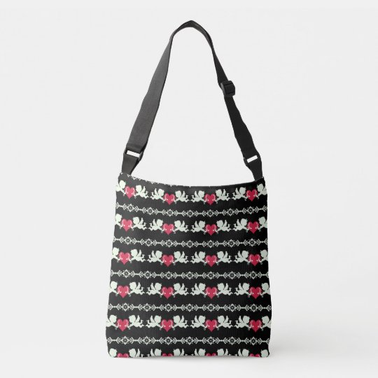 Cupid Pattern Crossbody Bag