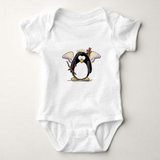Cupid Penguin Baby Bodysuit