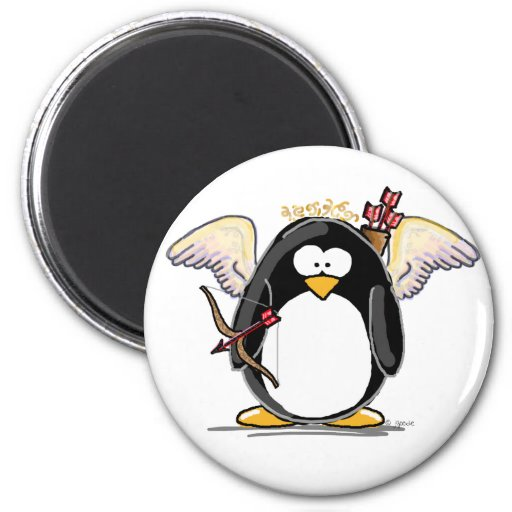 Cupid Penguin Magnets