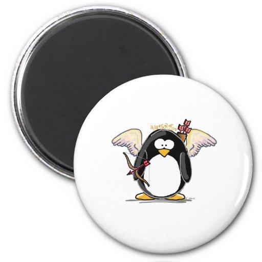Cupid Penguin Refrigerator Magnets