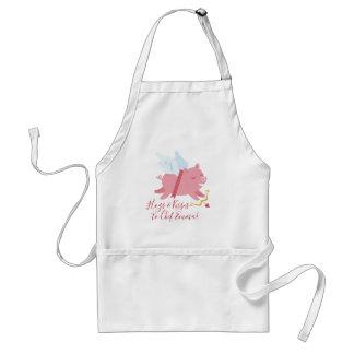 Cupid Pig Valentine Apron