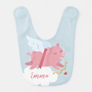 Cupid Pig Valentine Bib