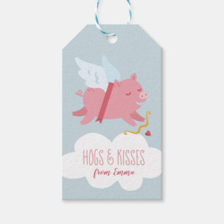 Cupid Pig Valentine Favor Tag