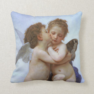 Cupid & Psyche as Babies Vintage Throw Pillow