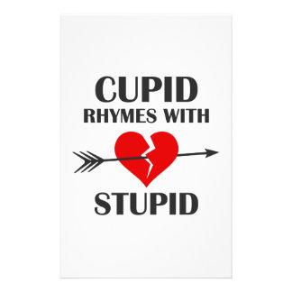 Cupid Rhymes With Stupid Valentines Day Stationery