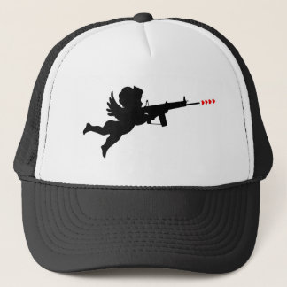 cupid shooting trucker hat