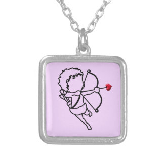 Cupid - taken silver plated necklace