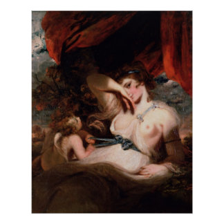 Cupid Untying the Zone of Venus by Joshua Reynolds Poster
