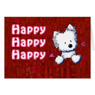 Cupid Westie Valentine Card