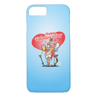 Cupid with a beer iPhone 7 case