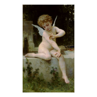 Cupid with a Butterfly Poster