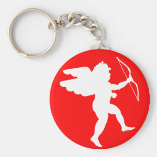 Cupid with Bow (White) - Keychain