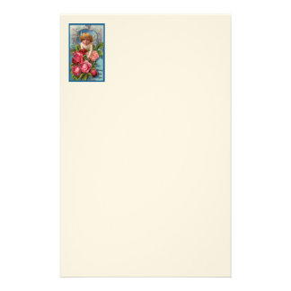 Cupid With Roses Stationery Design