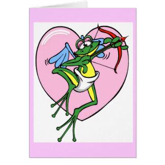 Cupidon de grenouille - carte de note
