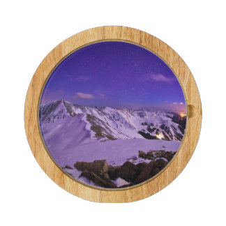 Cupid's Celestial View Rectangular Cheeseboard