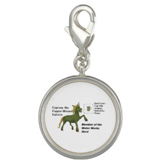 Cuprum with Herd Info - Round Silver Plated Charm