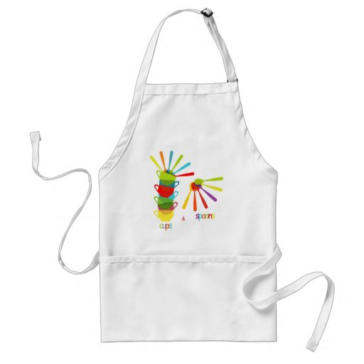 cups and let us spoons apron