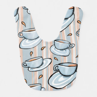 Cups Medley blue Baby Bib
