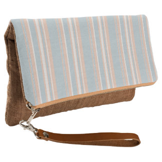 Cups Medley blue stripes Fold-Over Clutch