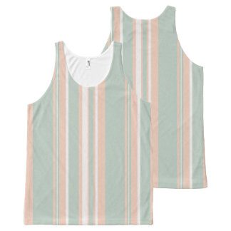 Cups Medley green stripes Unisex Tank