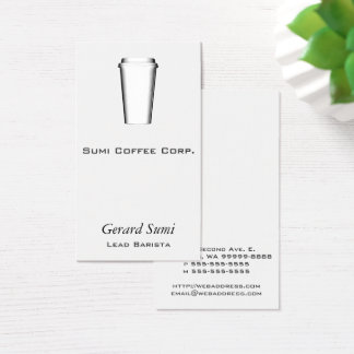 Cups To Go Business Card