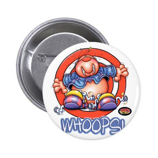 CUPY whoops! Pinback Button