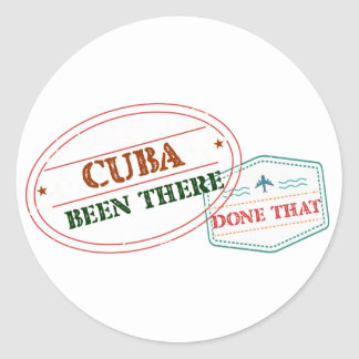 Curacao Been There Done That Classic Round Sticker
