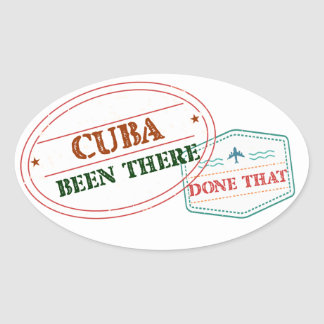 Curacao Been There Done That Oval Sticker