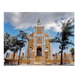 Curacao church postcard
