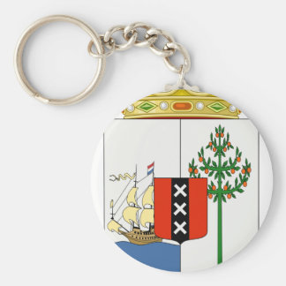 Curacao Coat Of Arms Keychain