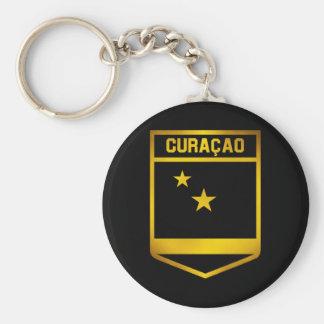 Curaçao Emblem Basic Round Button Keychain