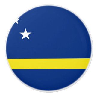 Curacao Flag Ceramic Knob