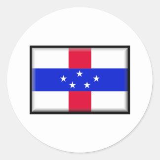Curacao Flag Classic Round Sticker
