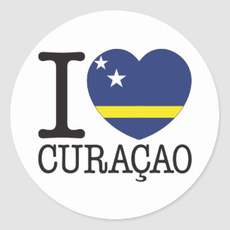 Curacao Love v2 Classic Round Sticker