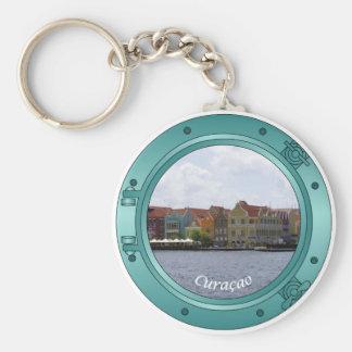 Curacao Porthole Keychain