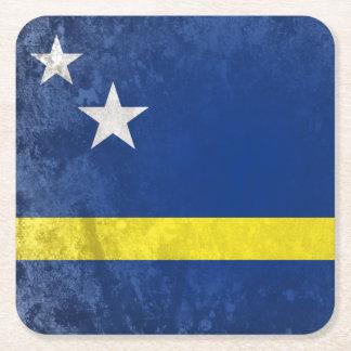 Curacao Square Paper Coaster