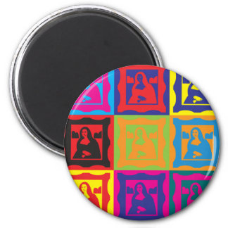 Curating Pop Art 2 Inch Round Magnet