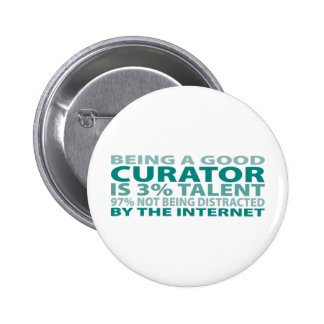 Curator 3% Talent 2 Inch Round Button