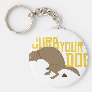 Curb Dog Basic Round Button Keychain