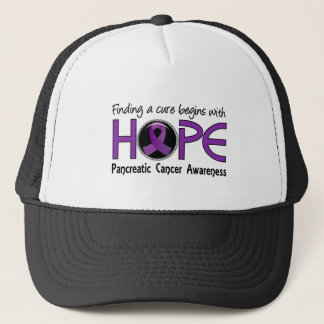 Cure Begins With Hope 5 Pancreatic Cancer Trucker Hat