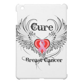 Cure Breast Cancer Heart Too Wings Cover For The iPad Mini