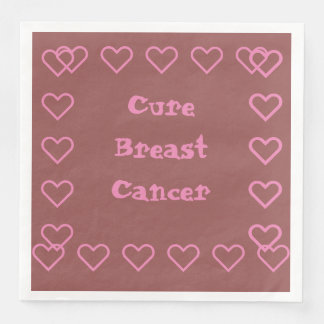 Cure breast cancer paper dinner napkin