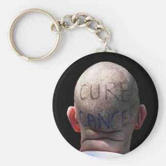 Cure Cancer Basic Round Button Keychain