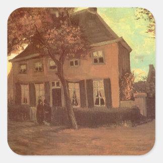 Cure chez Nuenen par Vincent van Gogh Sticker Carré