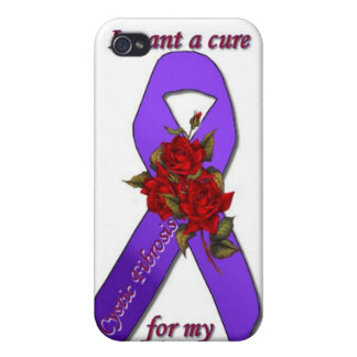 CURE CYSTIC FIBROSIS FOR MY SISTER iPhone 4 COVERS