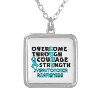 CURE...Dysautonomia Silver Plated Necklace