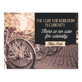 Cure For Boredom Postcard