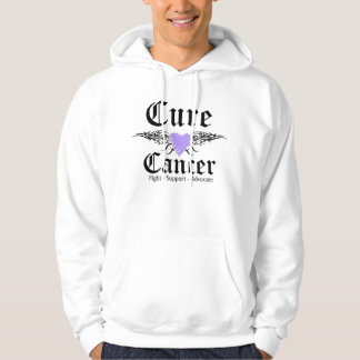 Cure General Cancer Tattoo Wings Hooded Sweatshirt
