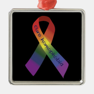 Cure Homophobia Ribbon Ornament
